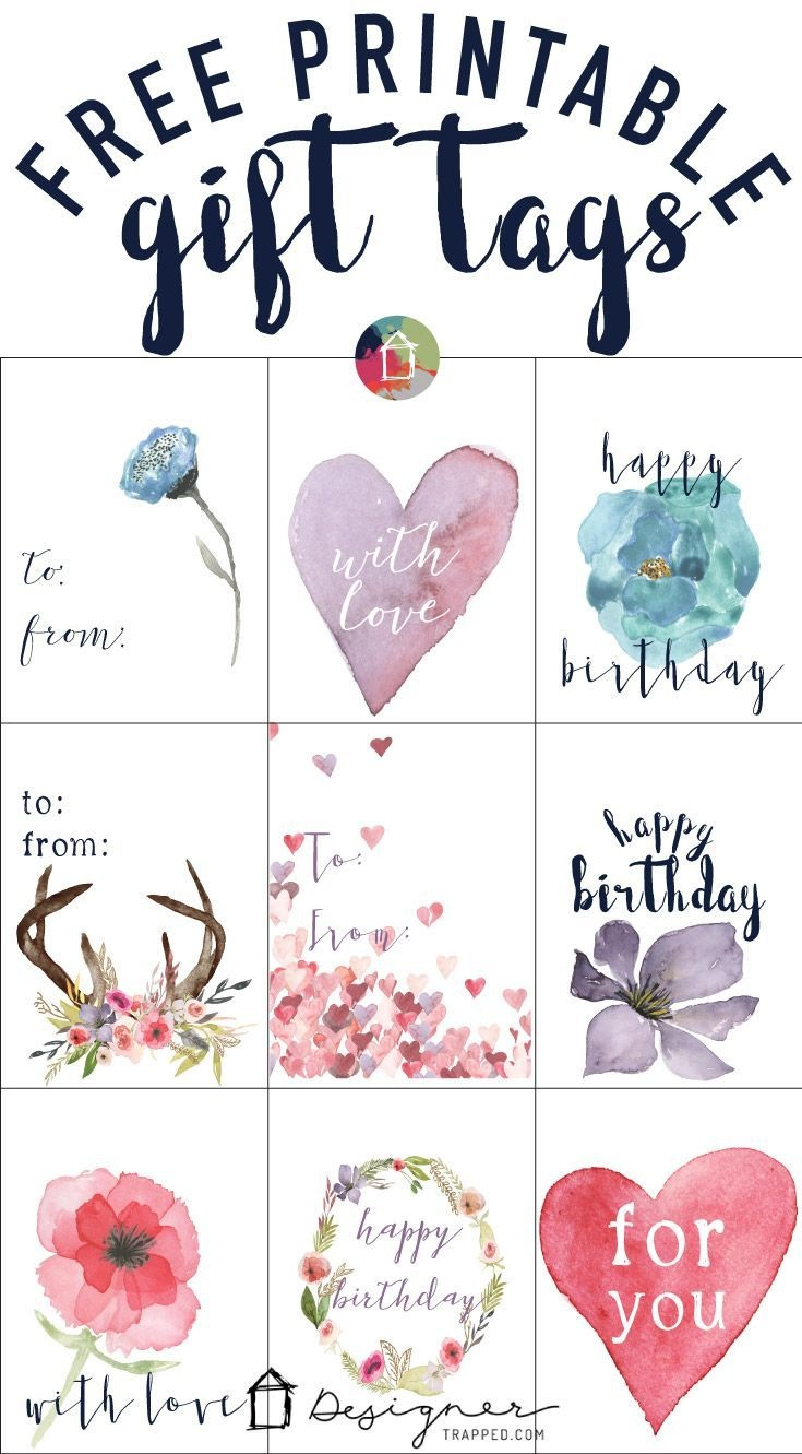 Free Printable Gift Tags For Birthdays | Pocket Scrapbooking | Free - Free Printable Gift Tags