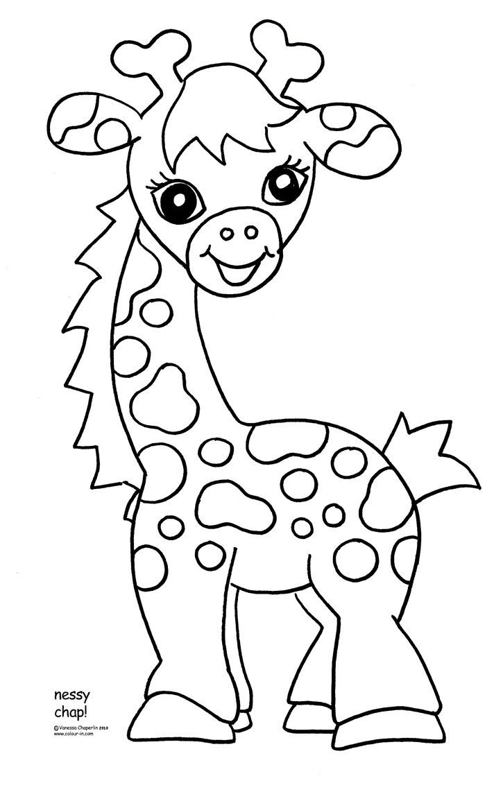 Free Printable Giraffe Coloring Pages For Kids | Easy Art Ideas For - Free Coloring Pages Animals Printable