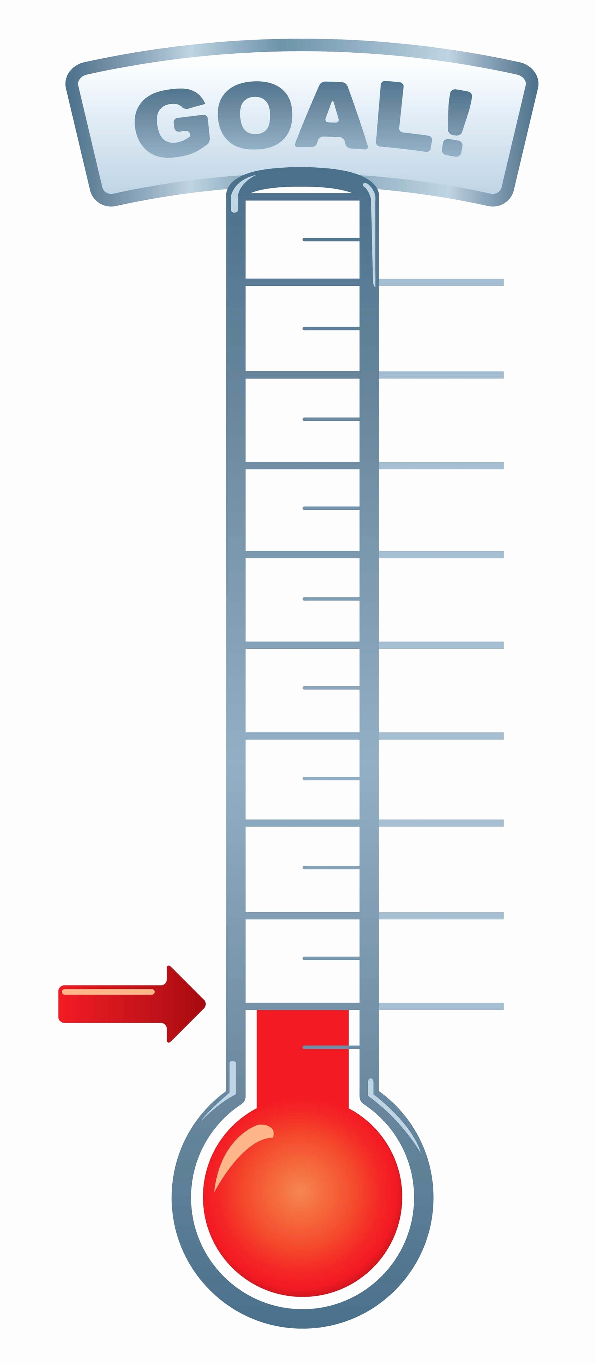 Free Printable Goal Thermometer Template For Goal Thermometer - Free Printable Goal Thermometer Template