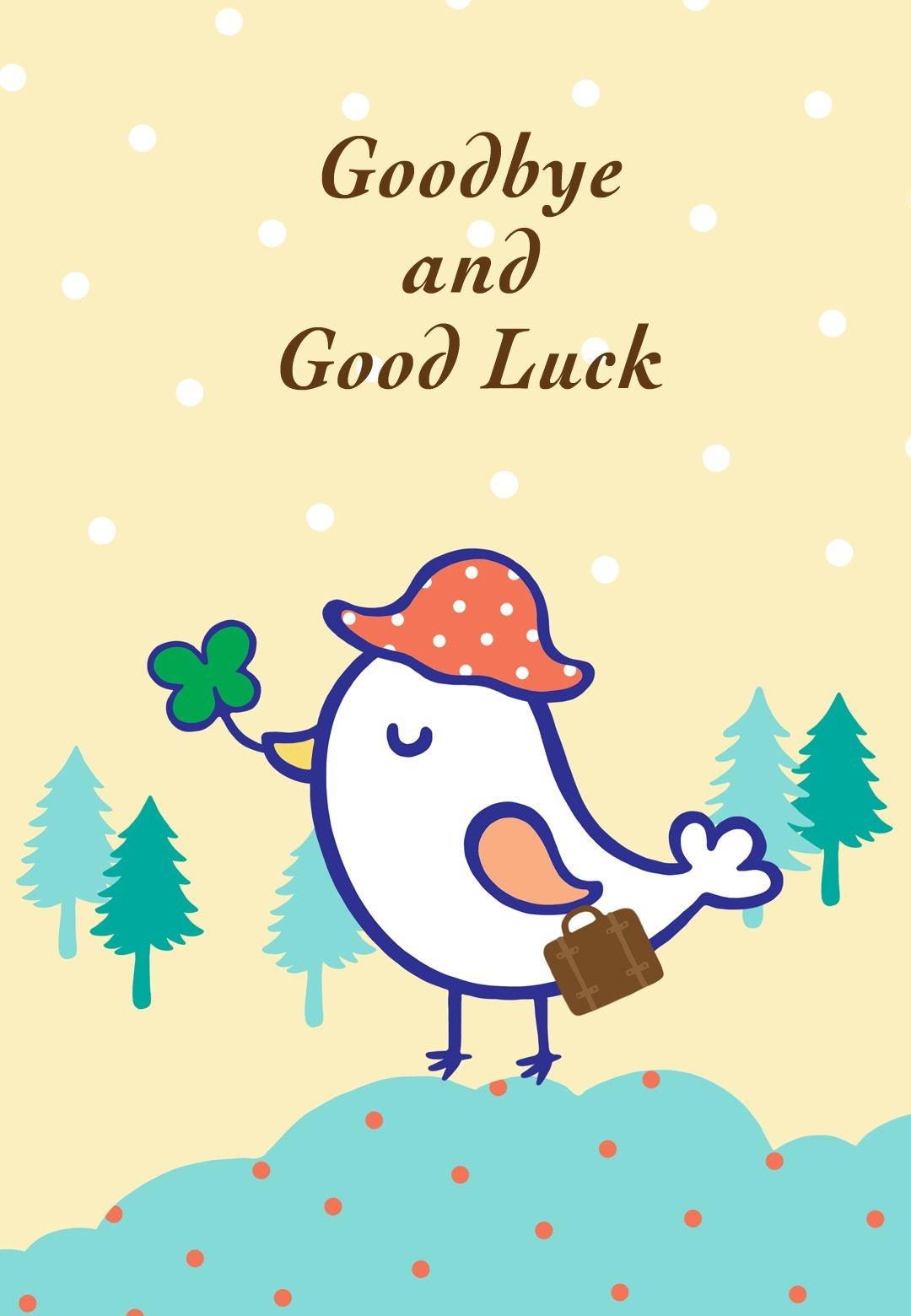 Free Printable Goodbye And Good Luck Greeting Card | Littlestar - Free Printable Good Luck Cards