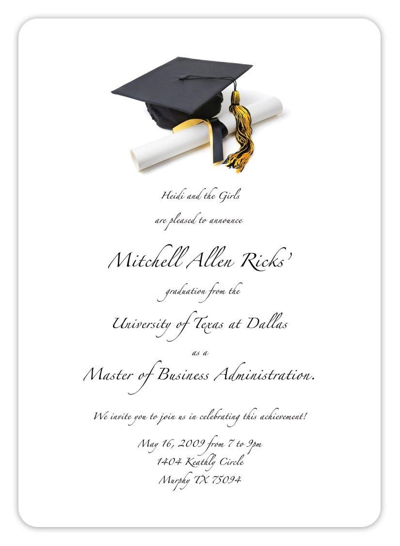 Free Printable Graduation Invitation Templates 2013 2017   Places To - Free Printable Graduation Announcements