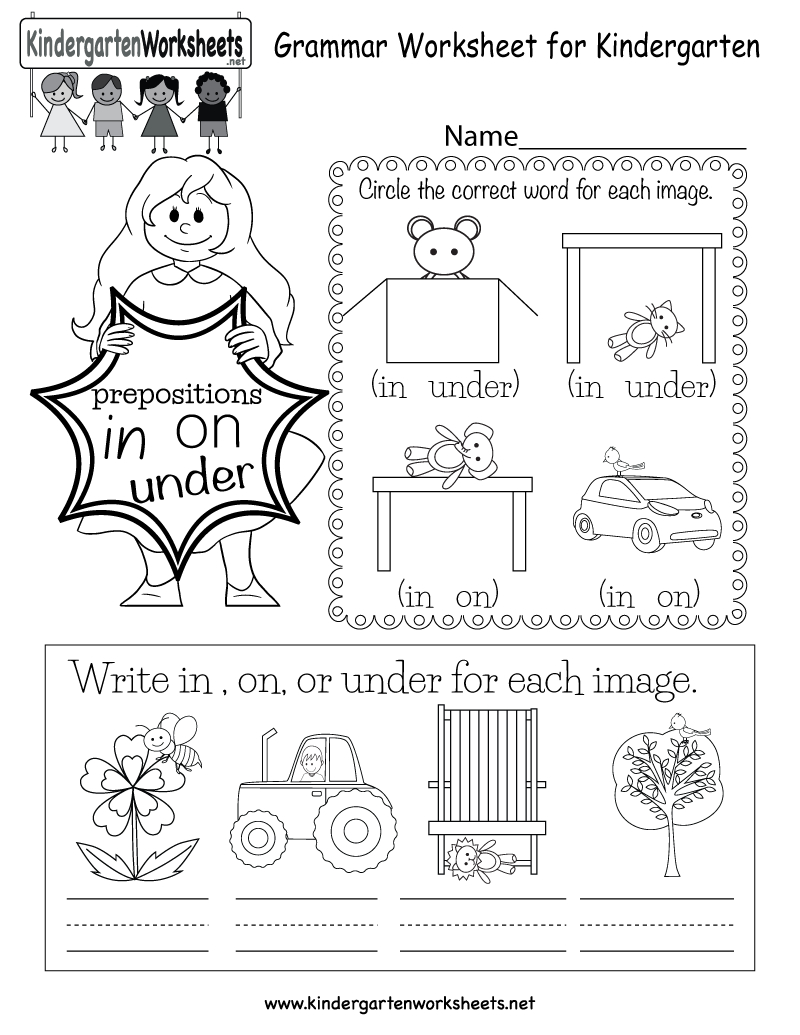 Free Printable Grammar Worksheet For Kindergarten - Free Printable Grammar Worksheets