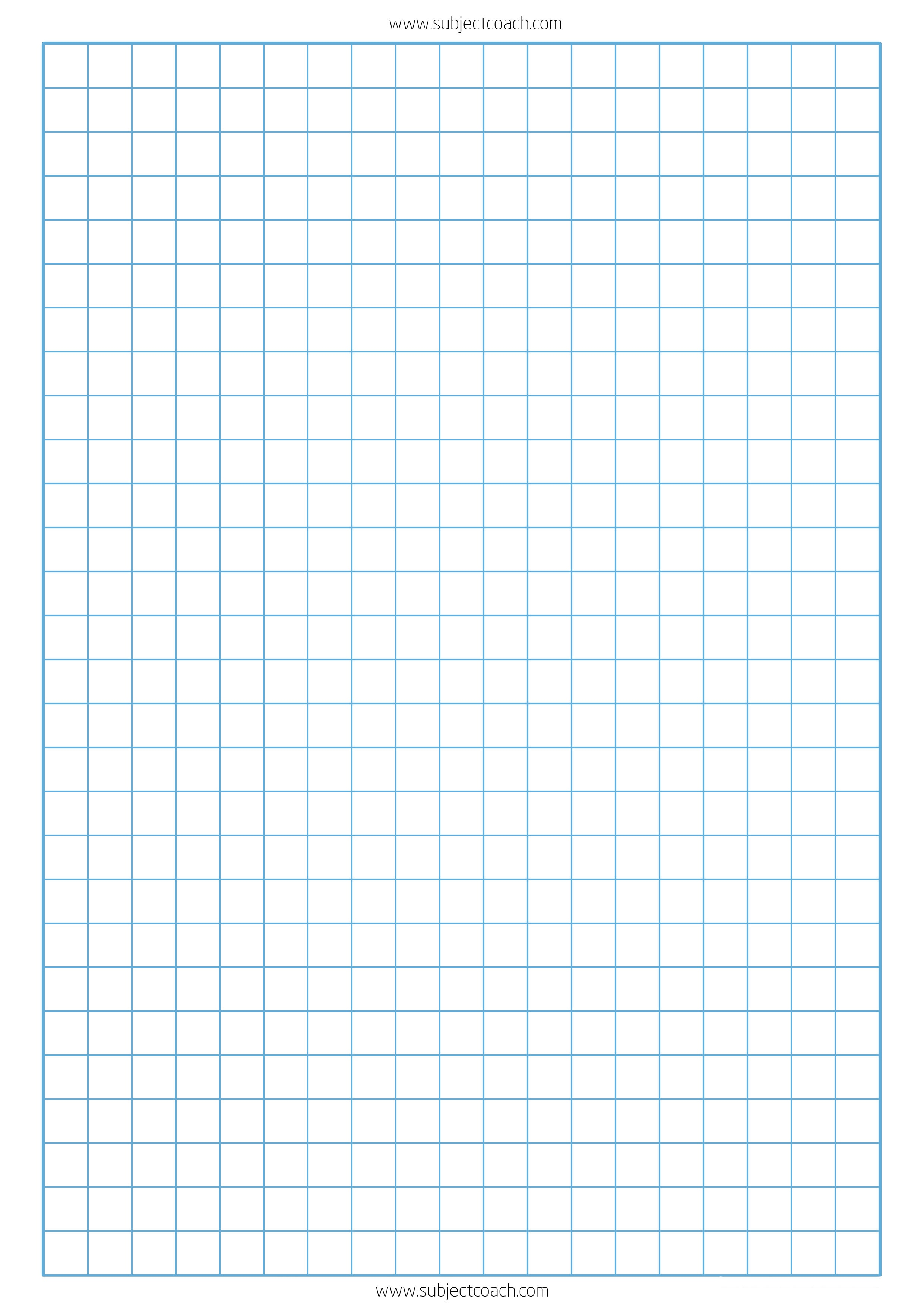 Free Printable Graph Paper 1Cm For A4 Paper   Subjectcoach - Free Printable Grid Paper
