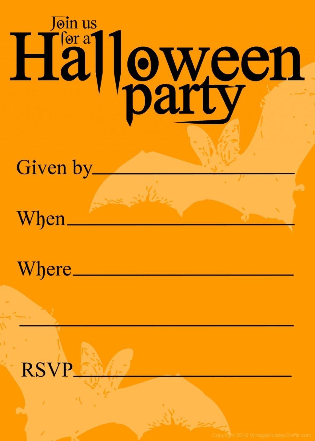 Free Printable Halloween Birthday Invitations Templates   Halloween - Free Halloween Birthday Invitation Templates Printable