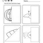 Free Printable Halloween Drawing Activity Worksheet For Kindergarten   Free Printable Drawing Worksheets