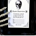 Free Printable Halloween Invitations For Your Spooky Soiree   Halloween Invitations Free Printable Black And White