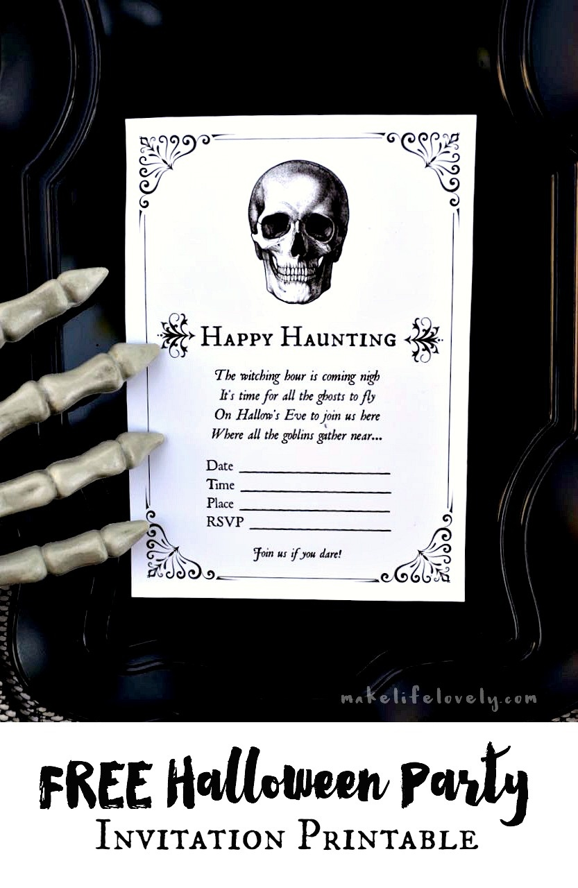 Free Printable Halloween Invitations For Your Spooky Soiree - Halloween Invitations Free Printable Black And White