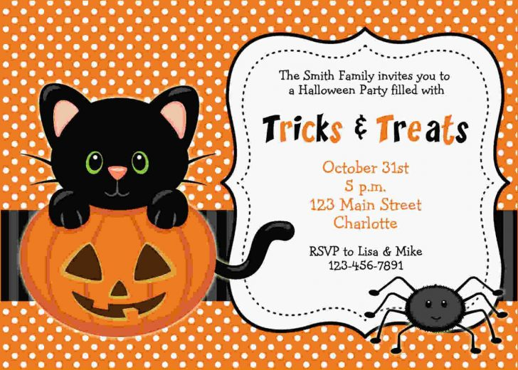 Halloween Invitations Free Printable Black And White