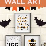 Free Printable Halloween Wall Art  Modern Prints For Your Halloween   Free Printable Halloween Decorations
