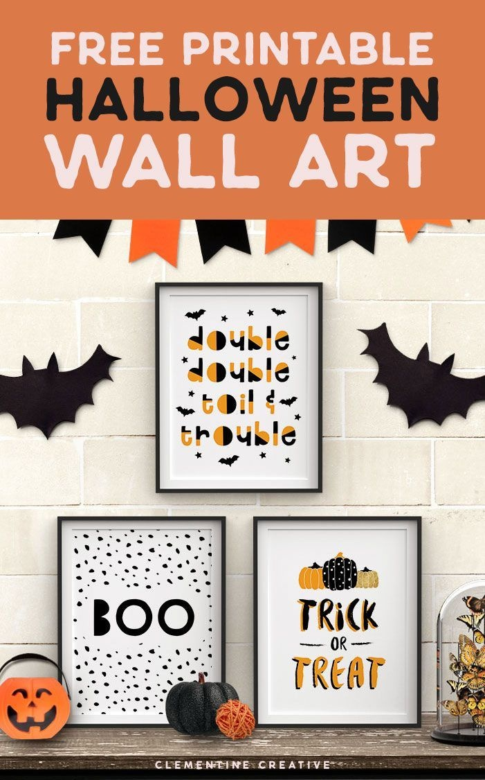 Free Printable Halloween Wall Art -Modern Prints For Your Halloween - Free Printable Halloween Decorations