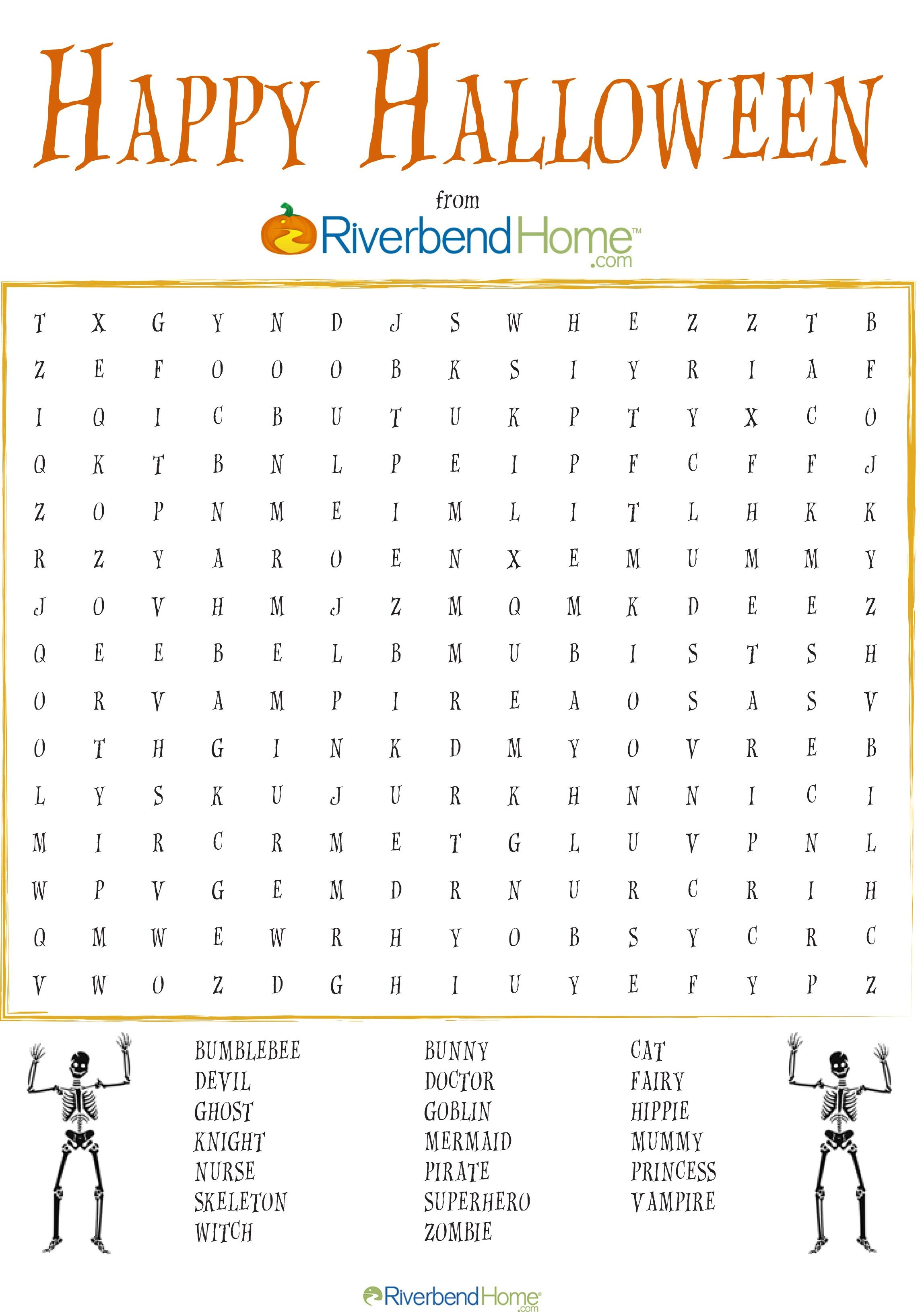 Free Printable Halloween Word Search Puzzle   Halloween   Halloween - Free Printable Halloween Word Search Puzzles