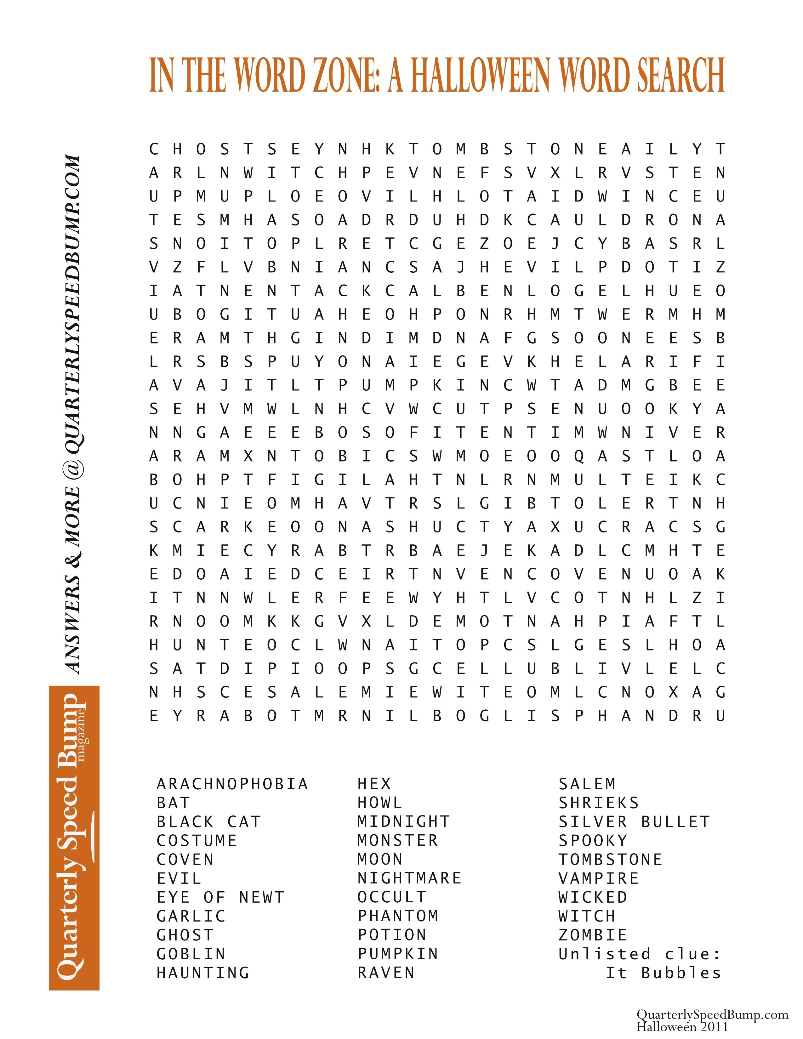 Free Printable Halloween Word Search Puzzles   Halloween Puzzle For - Free Printable Halloween Word Search Puzzles