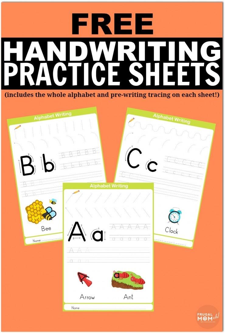 Free Printable Handwriting Worksheets Including Pre-Writing Practice - Free Printable Handwriting Paper