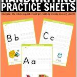 Free Printable Handwriting Worksheets Including Pre Writing Practice   Free Printable Handwriting Worksheets