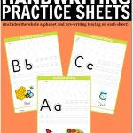 Free Printable Handwriting Worksheets Including Pre Writing Practice   Free Printable Worksheets Handwriting Practice