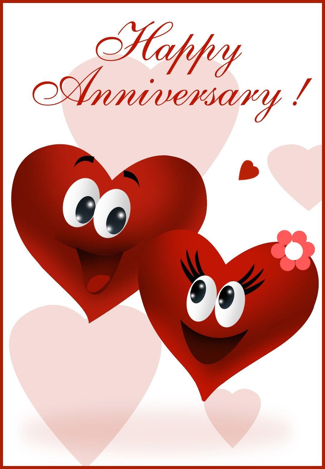 Free Printable Happy Anniversary Greeting Card   Anniversary   Happy - Printable Cards Free Anniversary