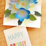 Free Printable Happy Birthday Card With Pop Up Bouquet   A Piece Of   Create Greeting Cards Online Free Printable