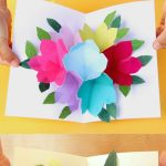 Free Printable Happy Birthday Card With Pop Up Bouquet | Printables   Free Printable Birthday Pop Up Card Templates