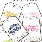 Free Printable Happy Birthday Gift Tags   Sarah Titus   Free Printable Birthday Tags