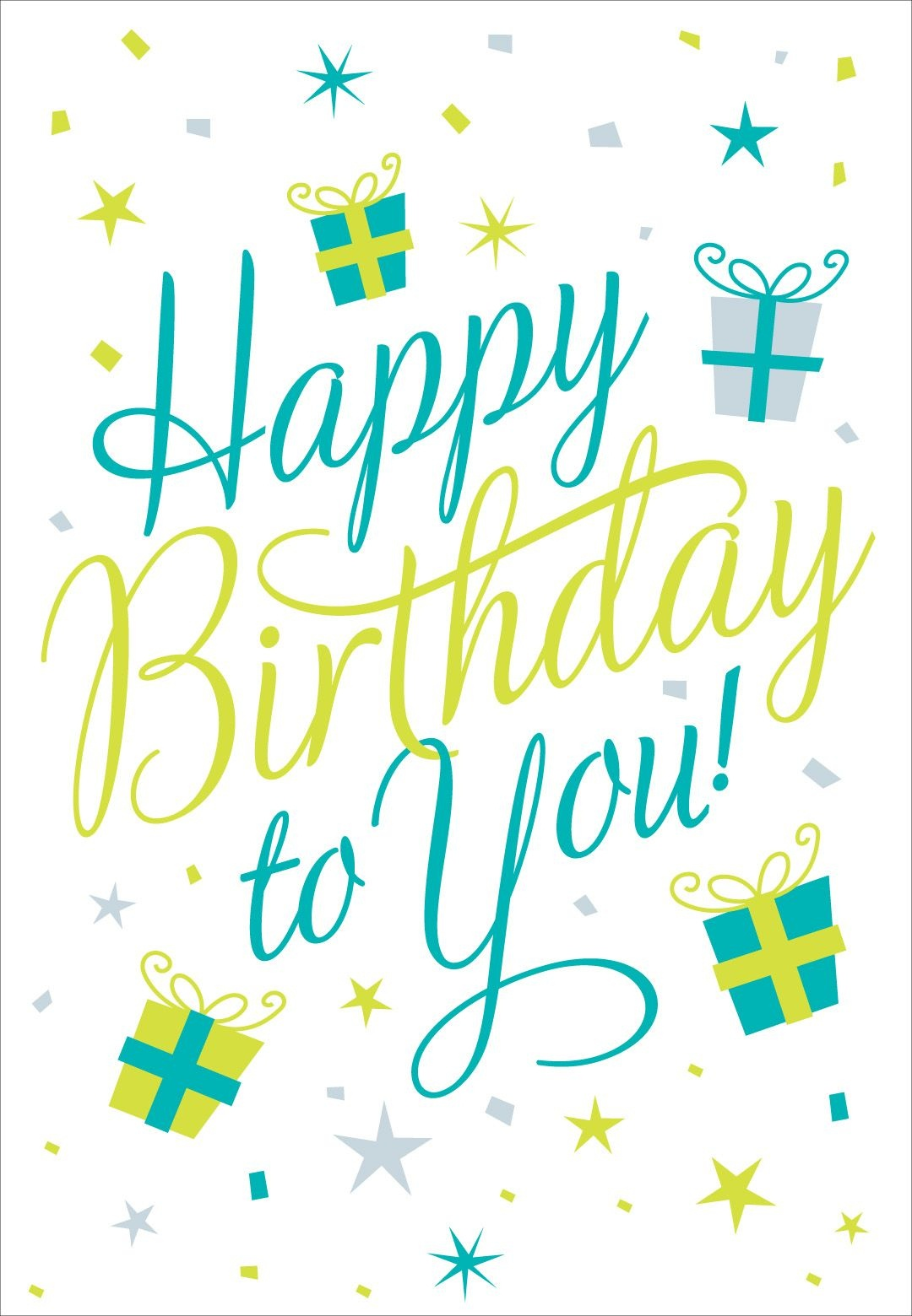 Free Printable Happy Birthday To You Greeting Card #birthday - Happy Birthday Free Cards Printable