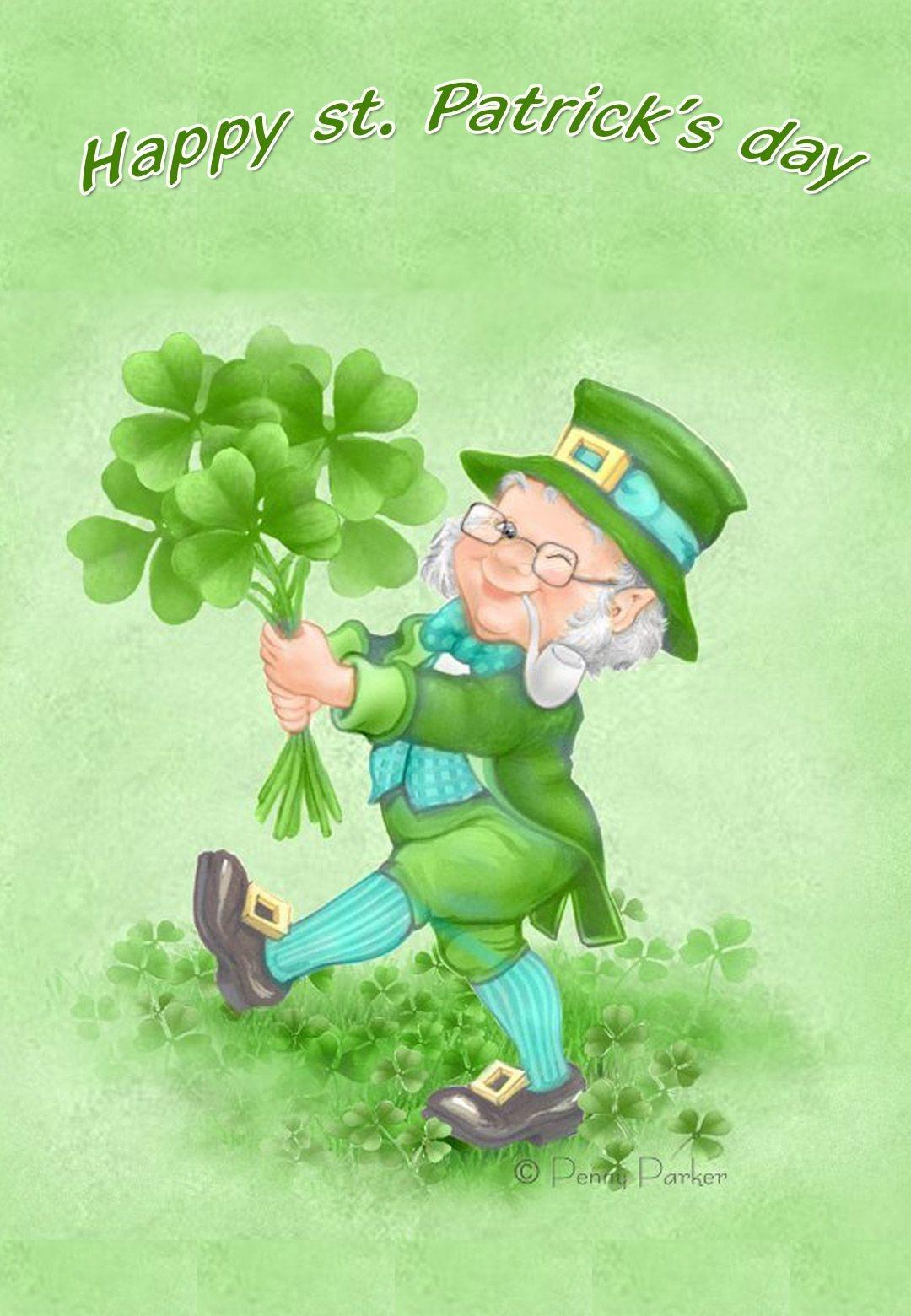 Free Printable Happy St Patricks Day Greeting Card   Printable St - Free Printable St Patrick's Day Card