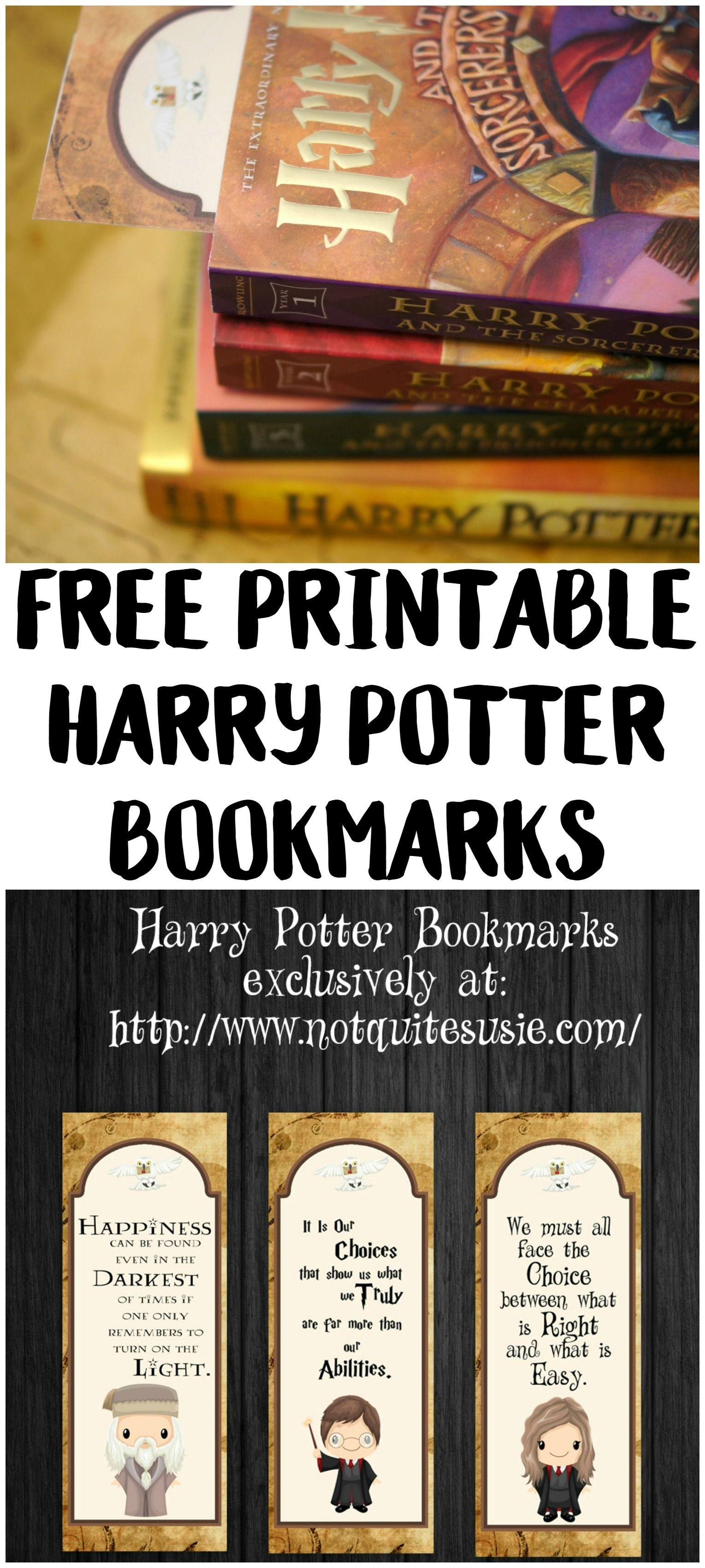 Free Printable Harry Potter Bookmarks | Harry Potter Hogwarts - Free Printable Harry Potter Pictures