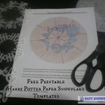 Free Printable Harry Potter Paper Snowflake Templates | Suzy   Snowflake Template Free Printable