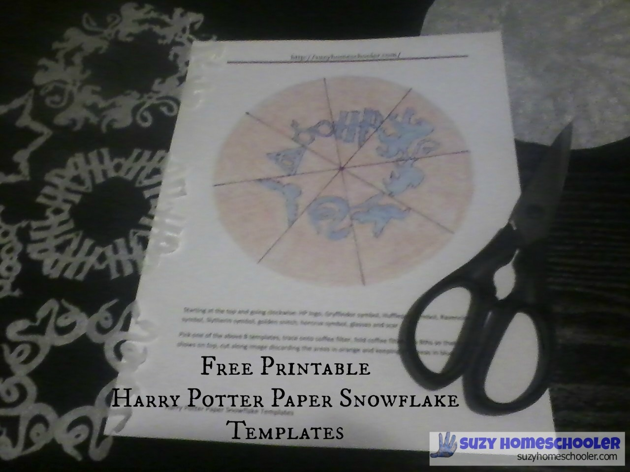 Free Printable Harry Potter Paper Snowflake Templates | Suzy - Snowflake Template Free Printable