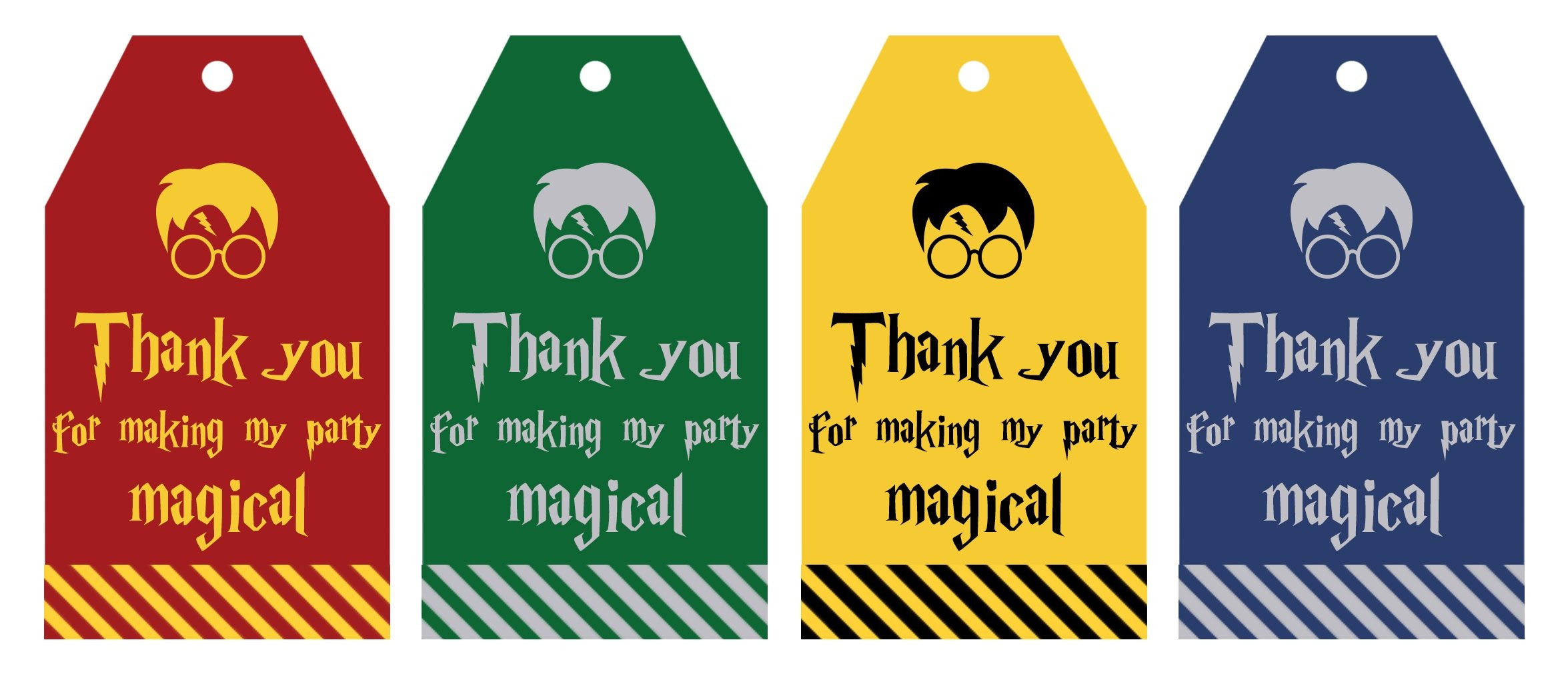 Free Printable Harry Potter Party Favor Gift Tags - Lovely Planner - Free Printable Gift Bag Tags