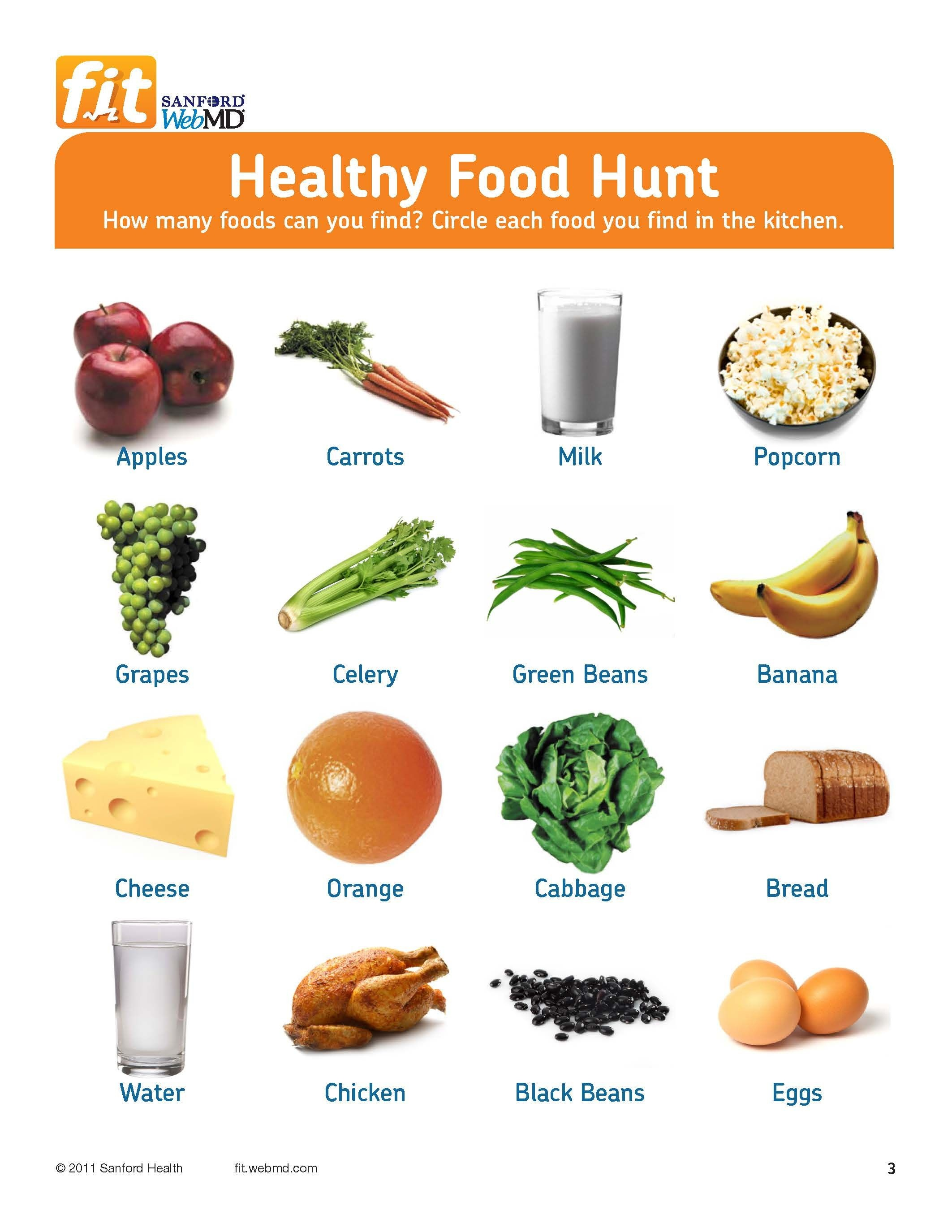 Free Printable! Healthy Food Hunt For Grades 3-6 | Teaching - Free Printable Healthy Eating Worksheets