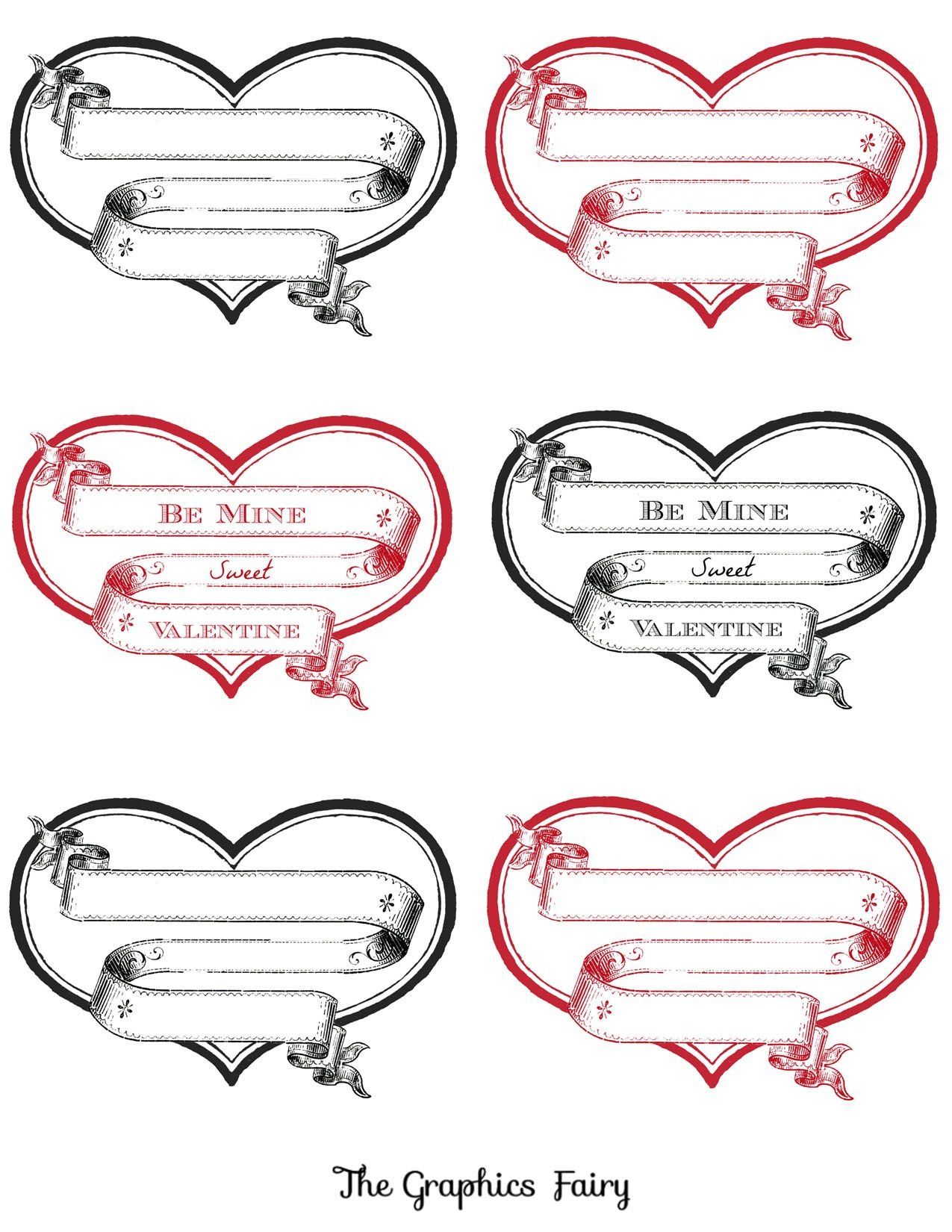 Free Printable Heart Labels   Valentines Day   Valentine Images - Free Printable Heart Labels