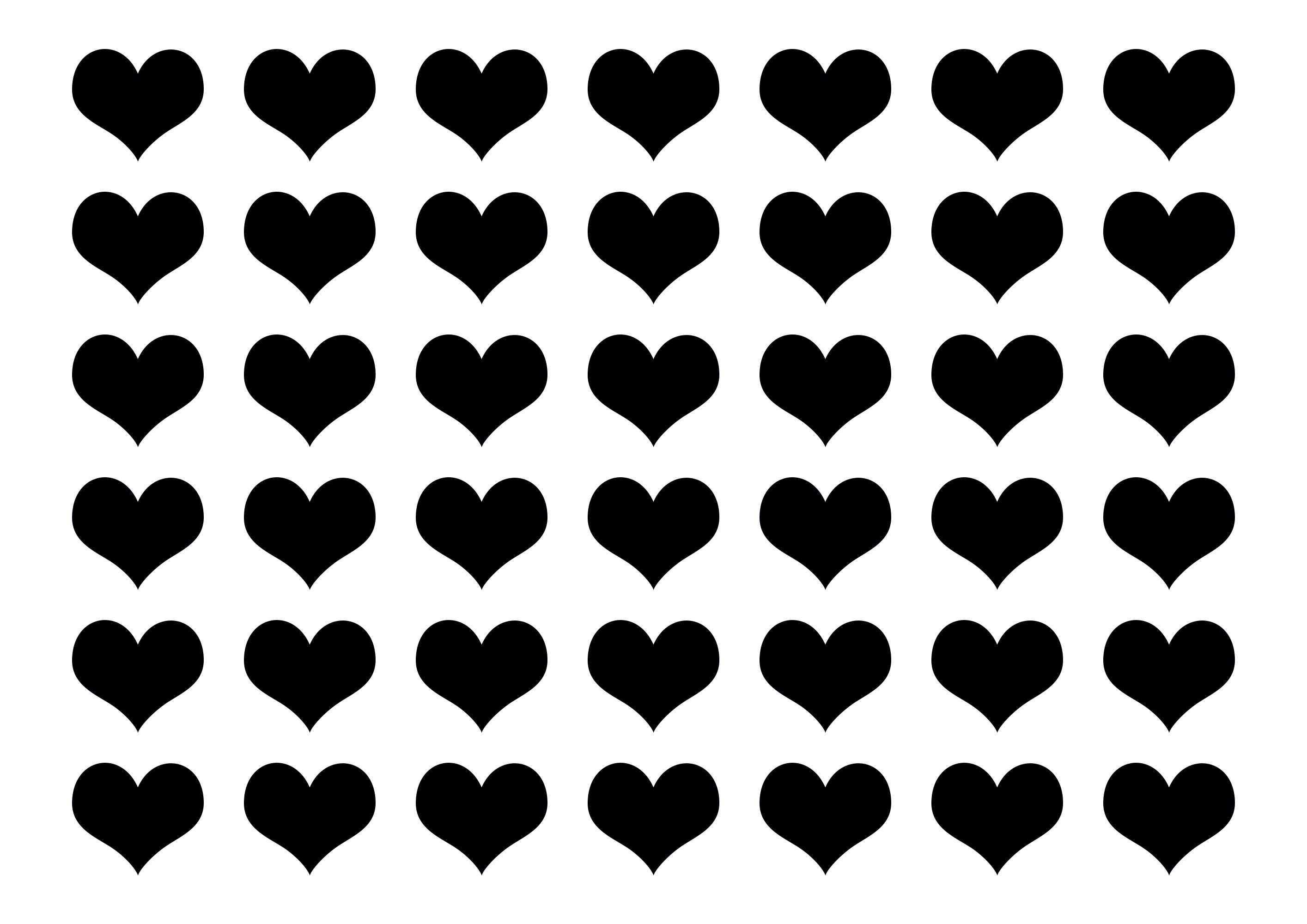 Free Printable Heart Templates (Small) – Olivia Adorf - Free Printable Heart Templates