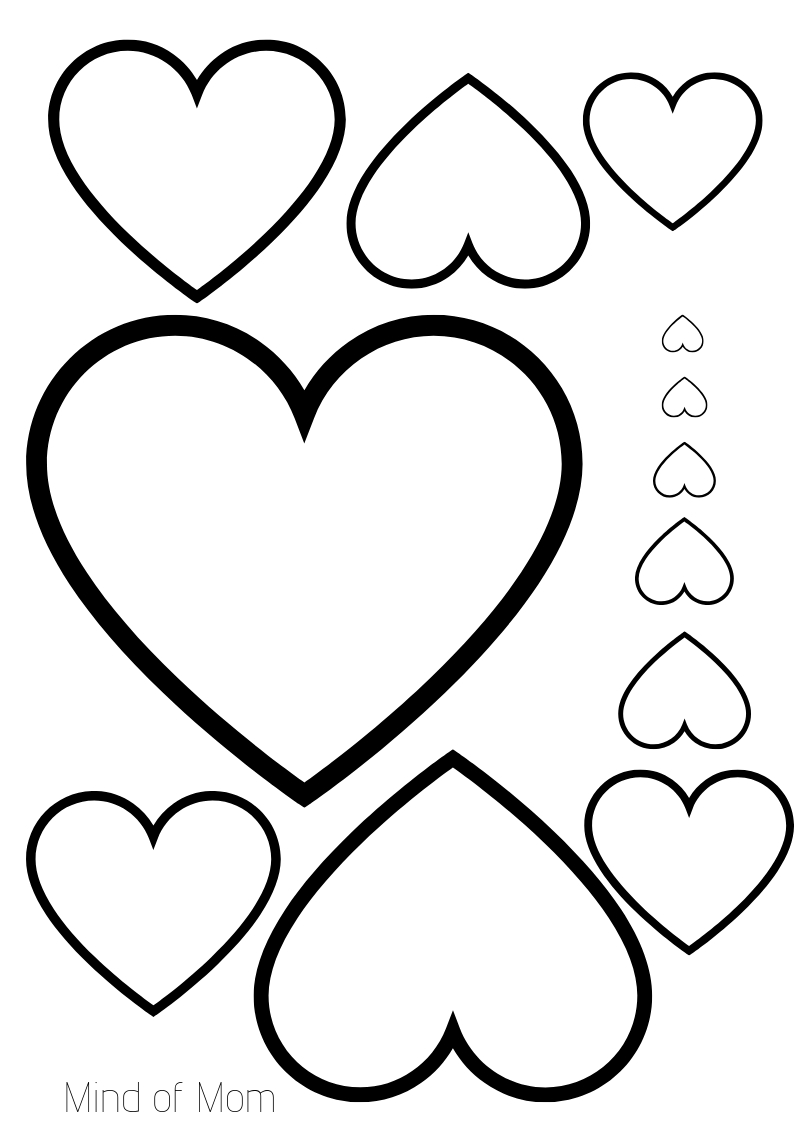 Free Printable. Hearts Printable For Valentine's Day! A4 Format For - Free Printable Hearts