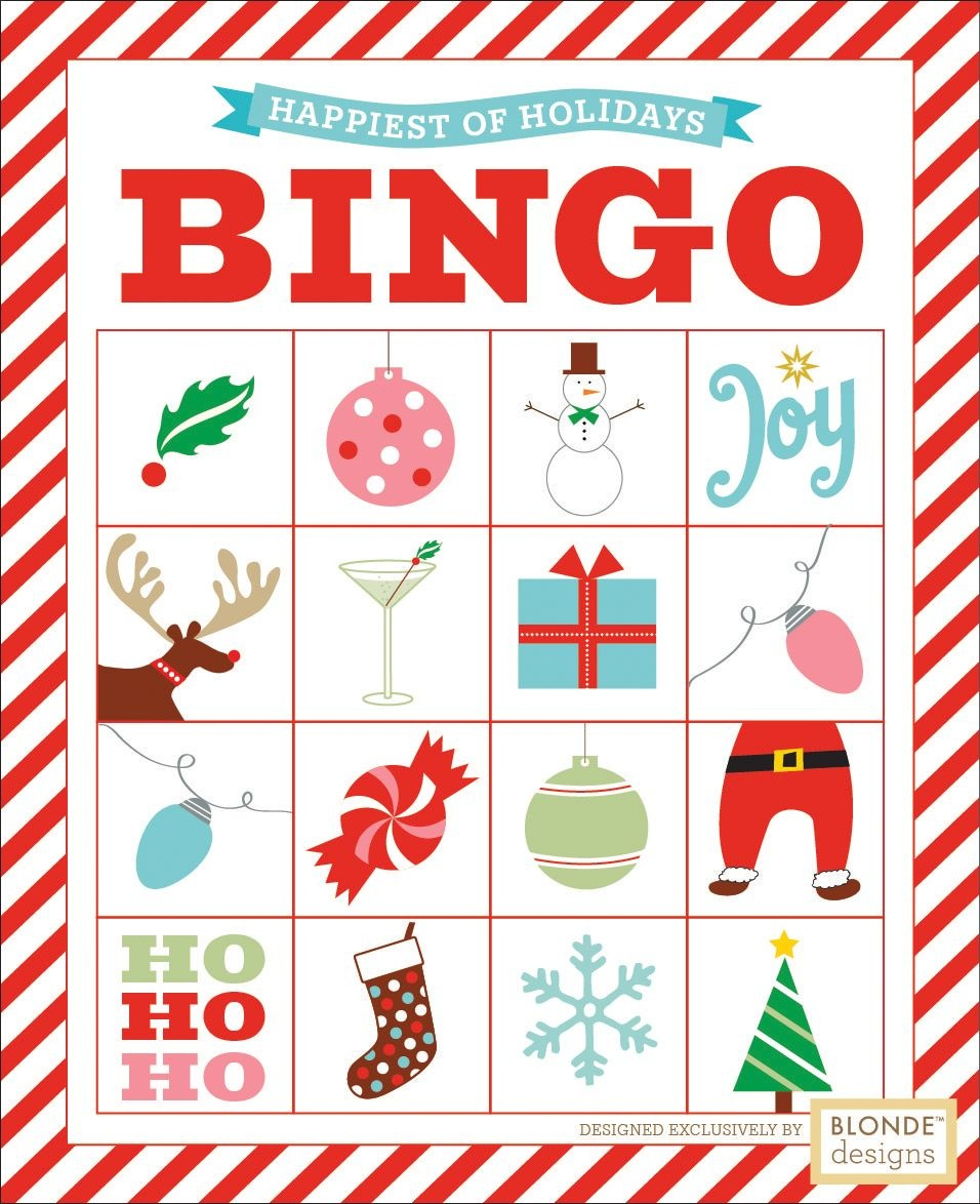 Free Printable: Holiday Bingo {Blonde Designs Blog} | Christmas - Free Holiday Games Printable