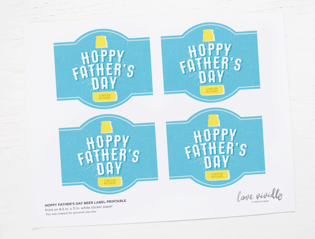 Free Printable! Hoppy Father's Day Beer Label - Free Printable Father's Day Labels