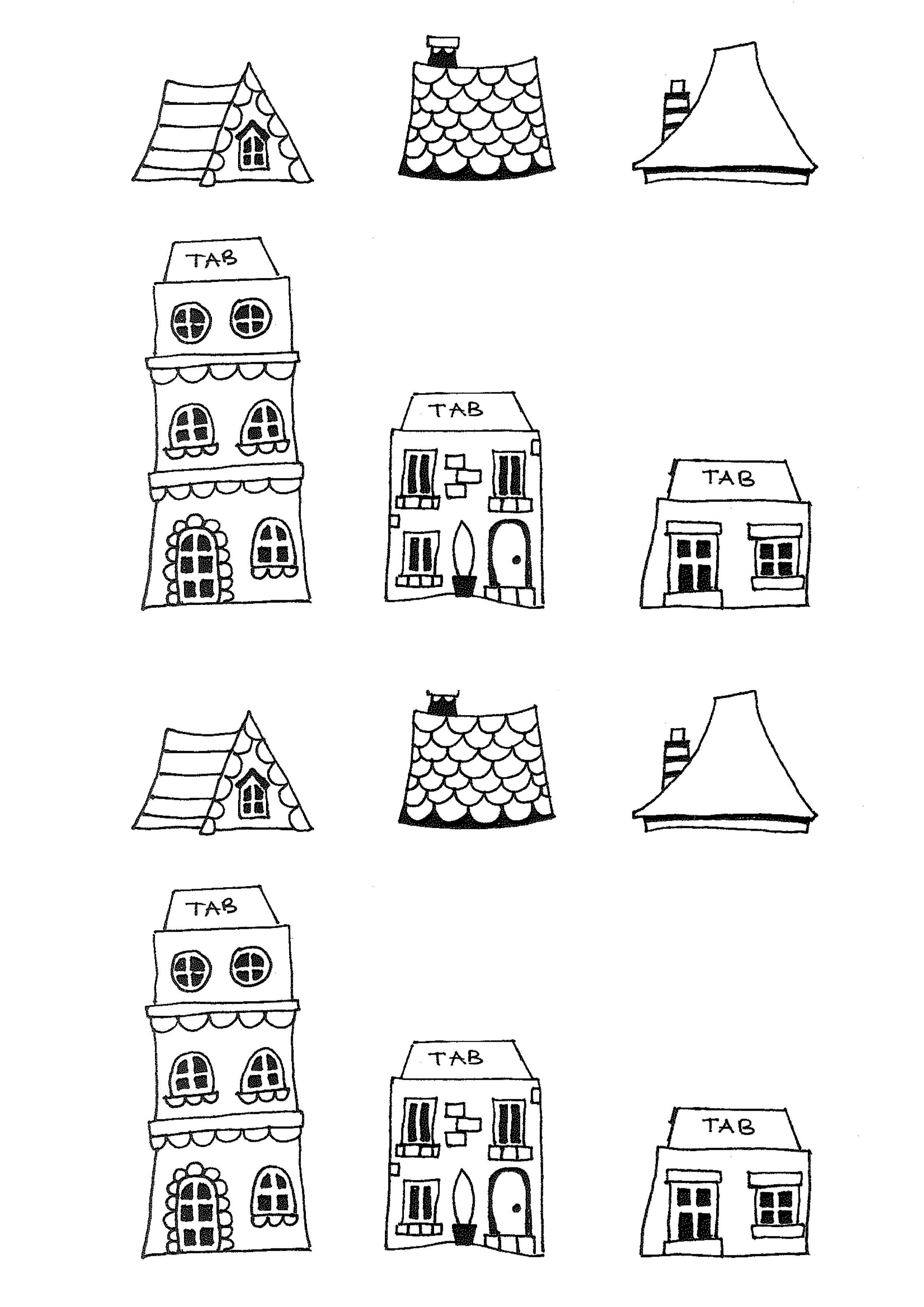Free Printable House Templates   Printables   New Home Cards, House - Free Printable Card Templates