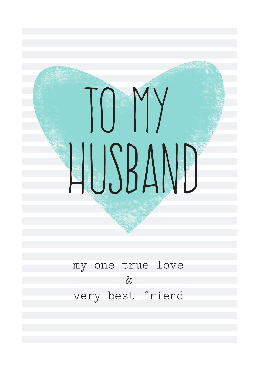 Free Printable Husband Greeting Card   Diy   Happy Birthday Husband - Free Printable Greeting Card Sentiments