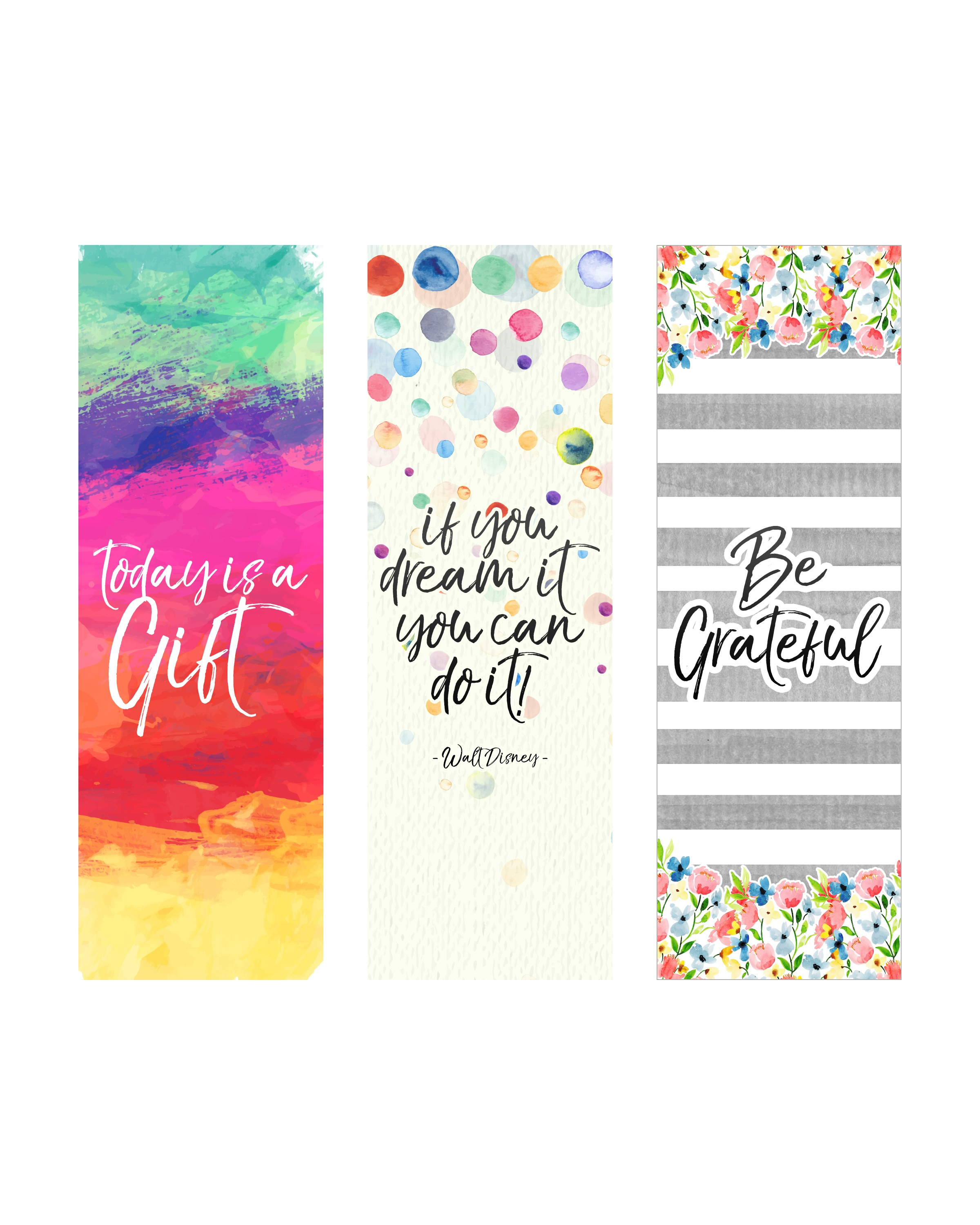 Free Printable Inspirational Quote Bookmarks - The Cottage Market - Free Printable Bookmarks