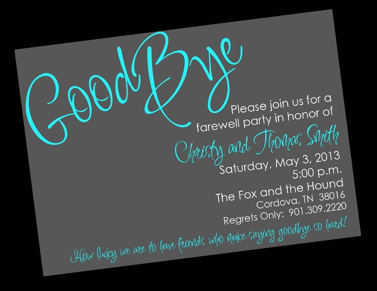 Free Printable Invitation Templates Going Away Party … | Party Ideas - Free Printable Farewell Card For Coworker