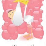 Free Printable 'it's A Girl' Greeting Card   Baby Shower   Baby   Free Printable Congratulations Baby Cards
