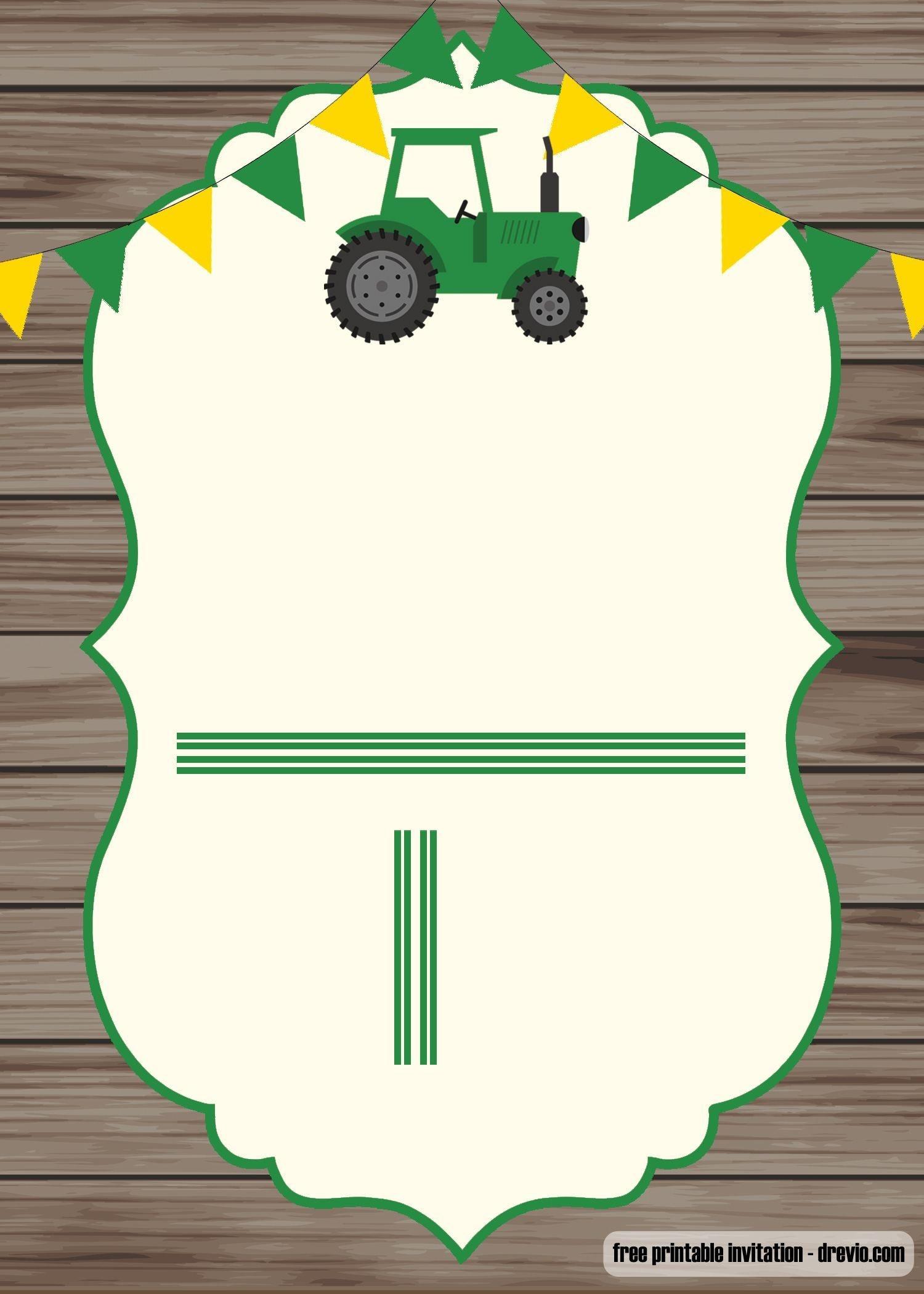 Free Printable John Deere Invitation Template | Baby 3! | Free - Free Printable John Deere Baby Shower Invitations