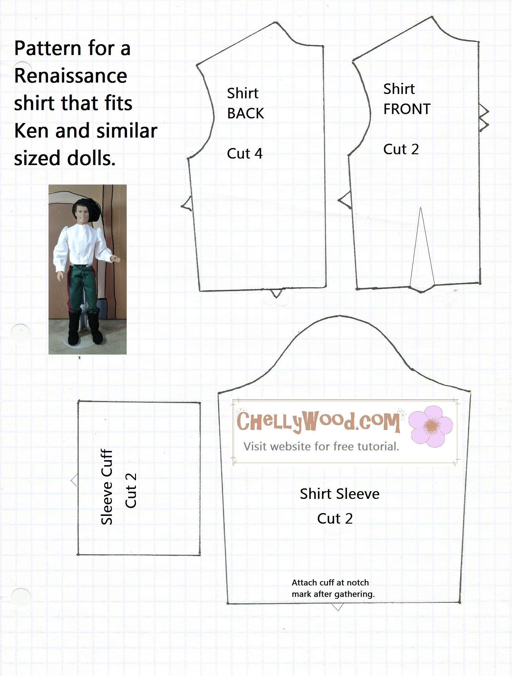 Free Printable Ken Doll Clothes Patterns - Google Search | Diy Doll - Free Printable Barbie Doll Sewing Patterns Template