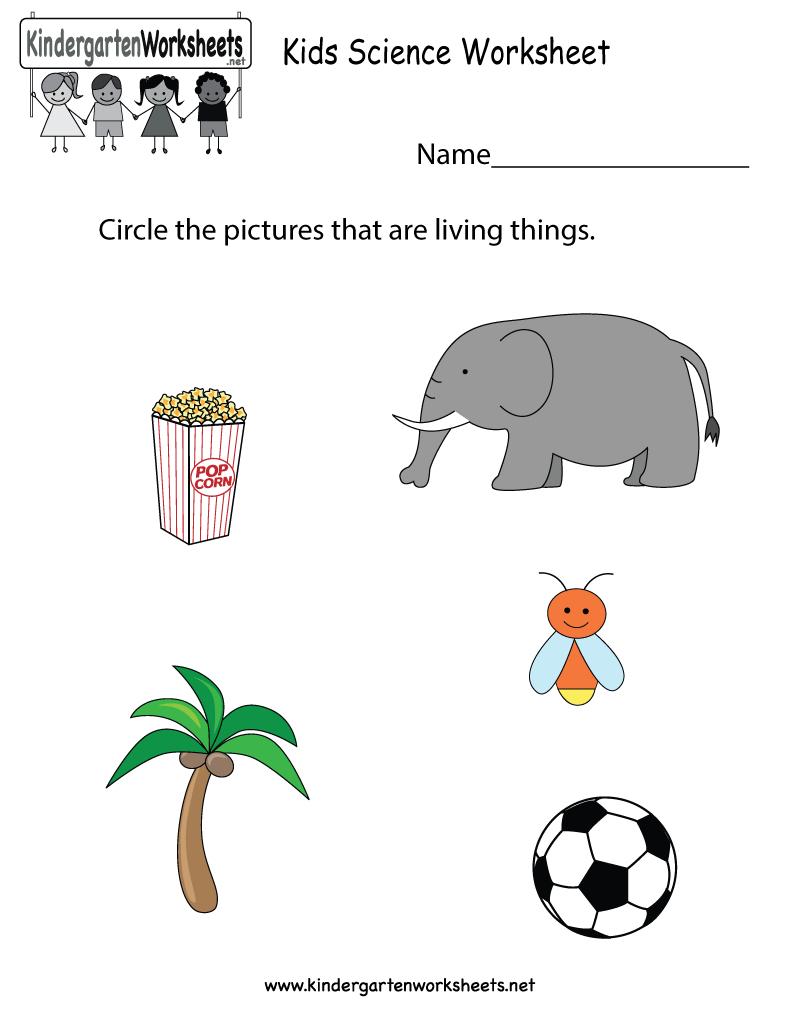 Free Printable Kids Science Worksheet For Kindergarten - Free Printable Worksheets For Kids Science