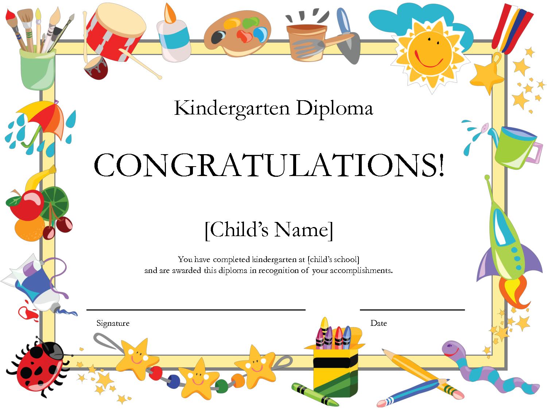 Free Printable Kindergarten Diplomaprintshowergames 0Megipu4 - Preschool Graduation Diploma Free Printable