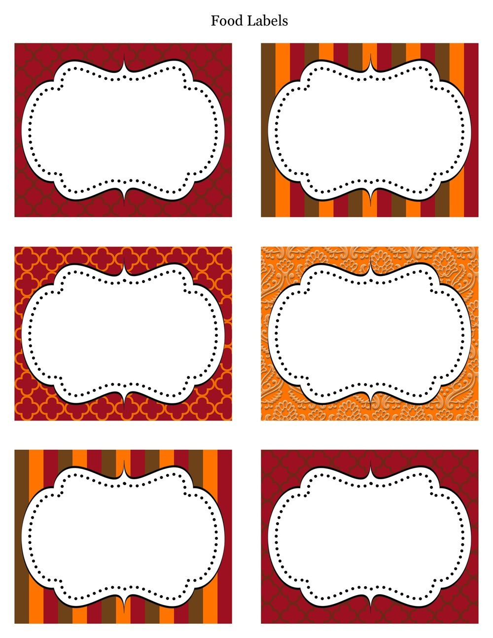 Free Printable Labels & Tags - For Food Buffet. Just Printed Them - Free Printable Candy Buffet Labels Templates