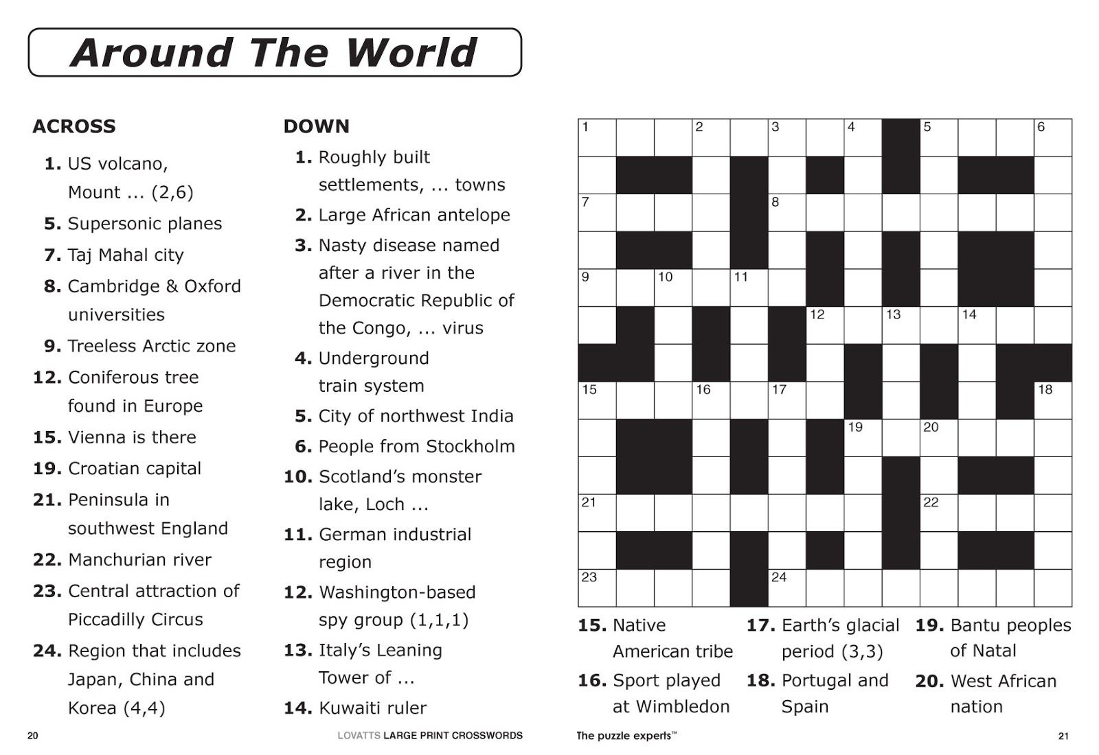 Free Printable Large Print Crossword Puzzles | M3U8 - Free Printable Crossword Puzzles
