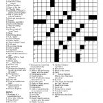 Free Printable Large Print Crossword Puzzles | M3U8   Free Printable Summer Puzzles