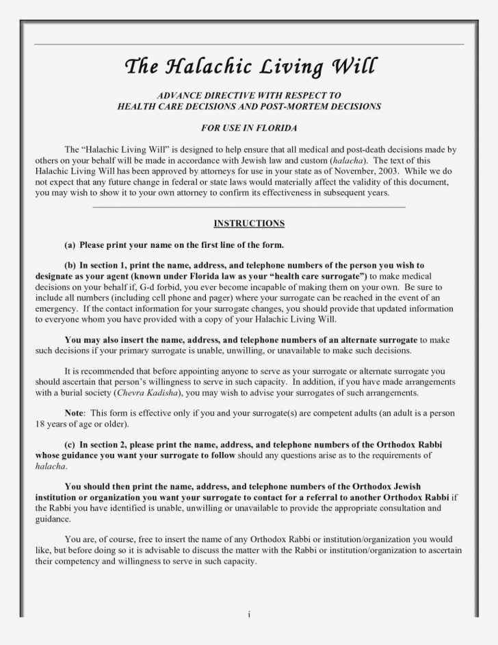 Free Online Printable Living Wills