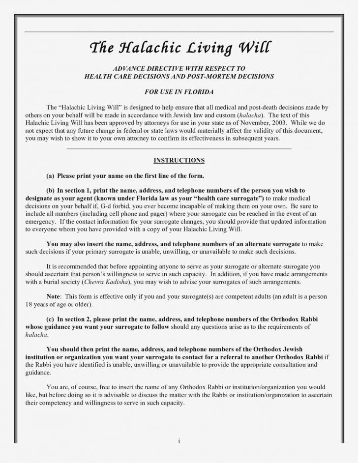 Free Online Printable Living Wills