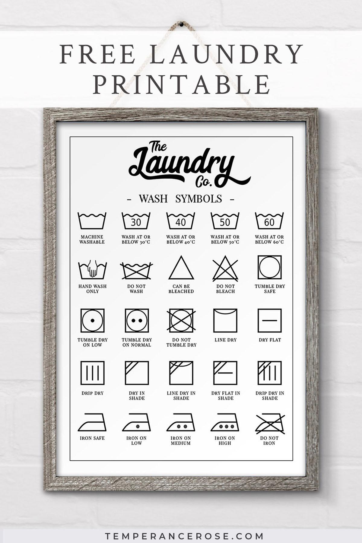 Free Printable Laundry Symbols Wall Art - Free Printable Funny Posters